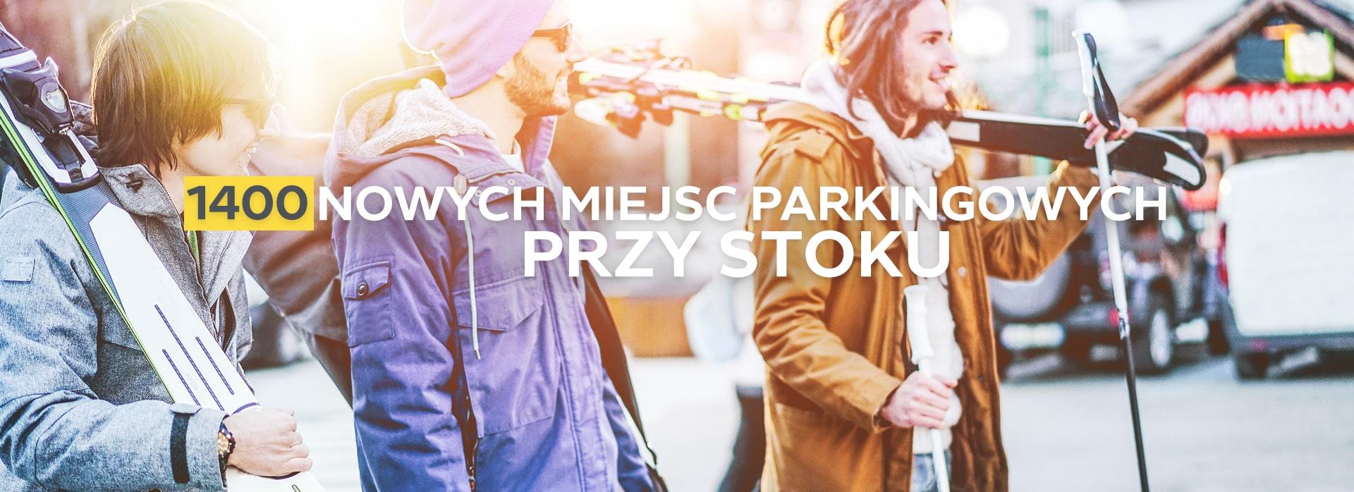 1400 nowych miejsc parkingowych przy stoku