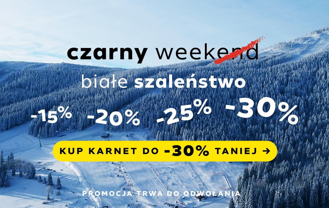 Black Week - Czarna Góra Resort - Kup karnet online do -30%